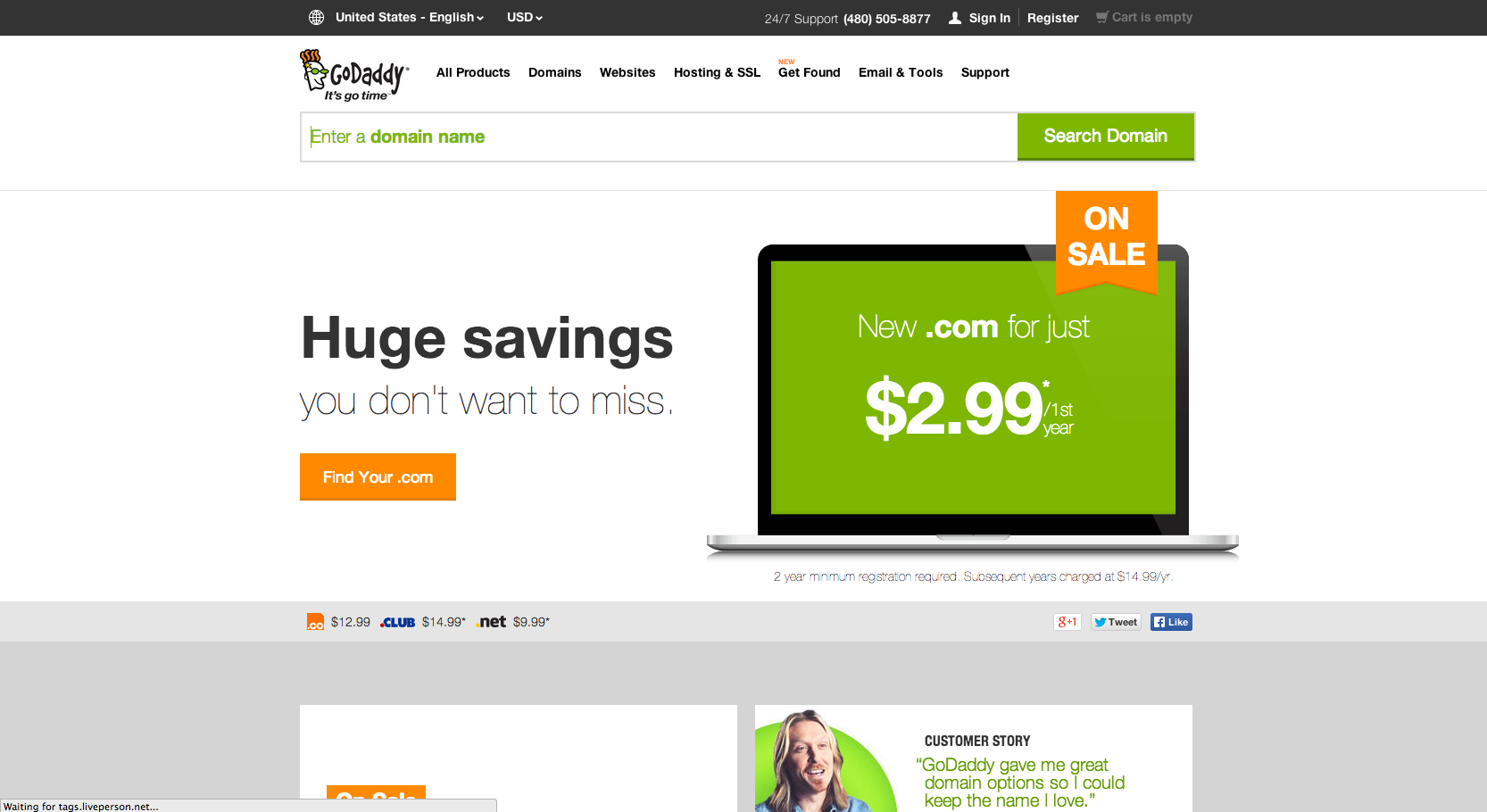 godaddy for counseling website