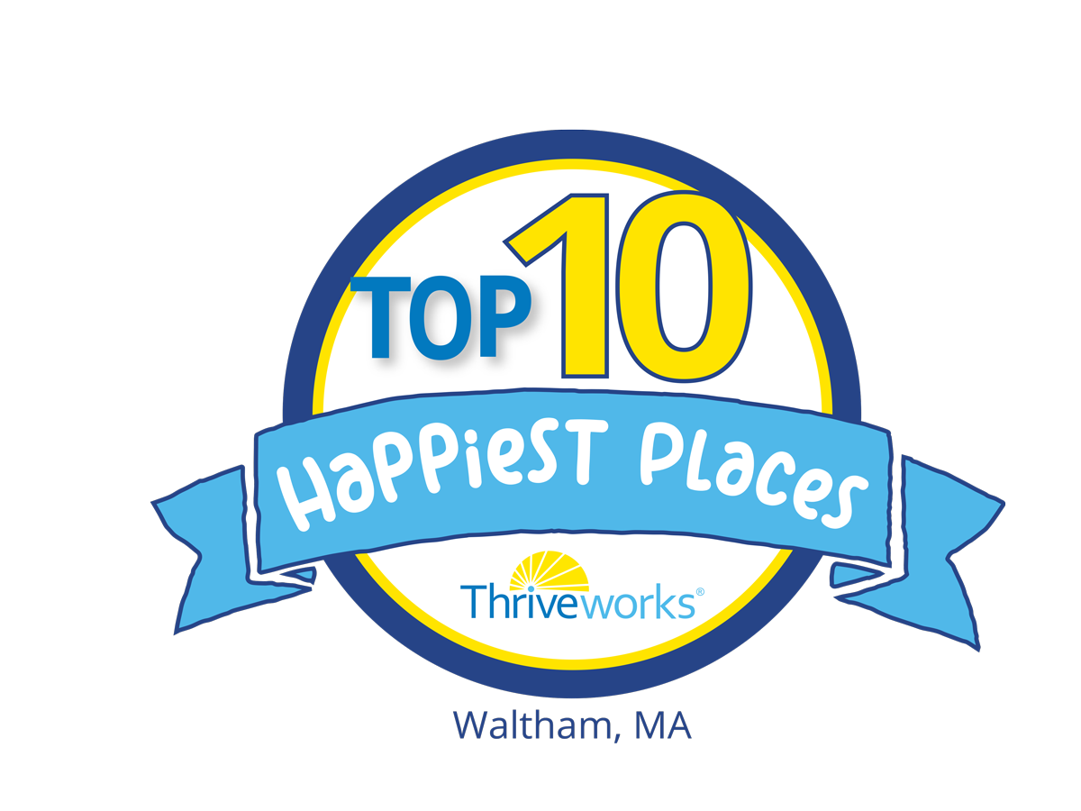 Top 10 Happiest Places in Waltham, MA Award