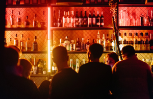 people gathering inside bar